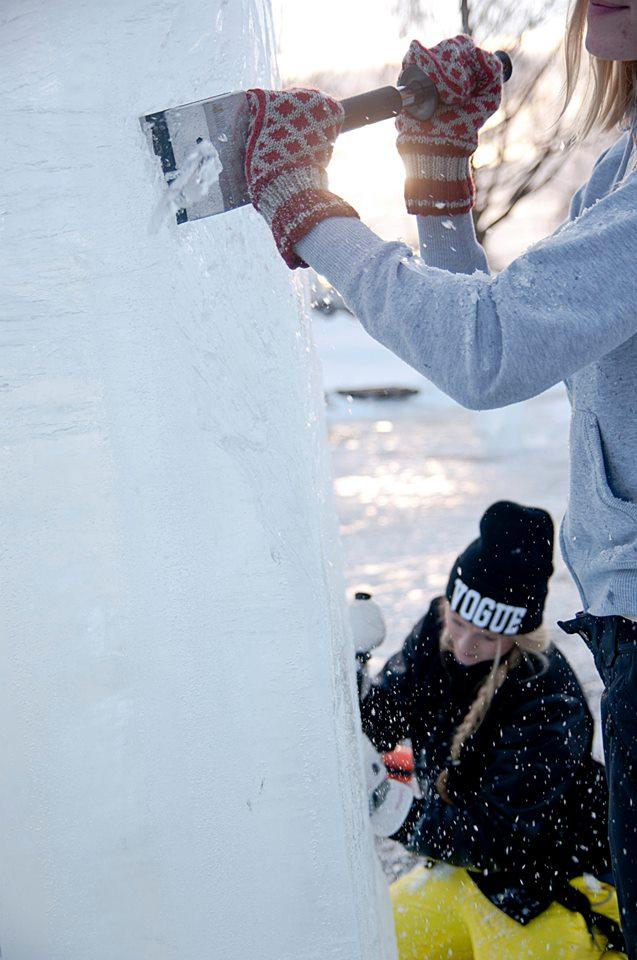Arbetet med Glacialen 2014 Foto:Liz Oskarsson