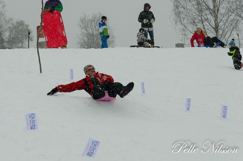 Deltagarna ger allt i stjärt lapps stafetten Foto: Pelle Nilsson / Ljungandalen.info
