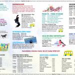 Ånge kommuns sportlovsannons sammanfattar många av veckans aktiviteter.