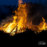 i Hallsta hade man fått mer fyr på sin brasa Foto: Pelle Nilsson