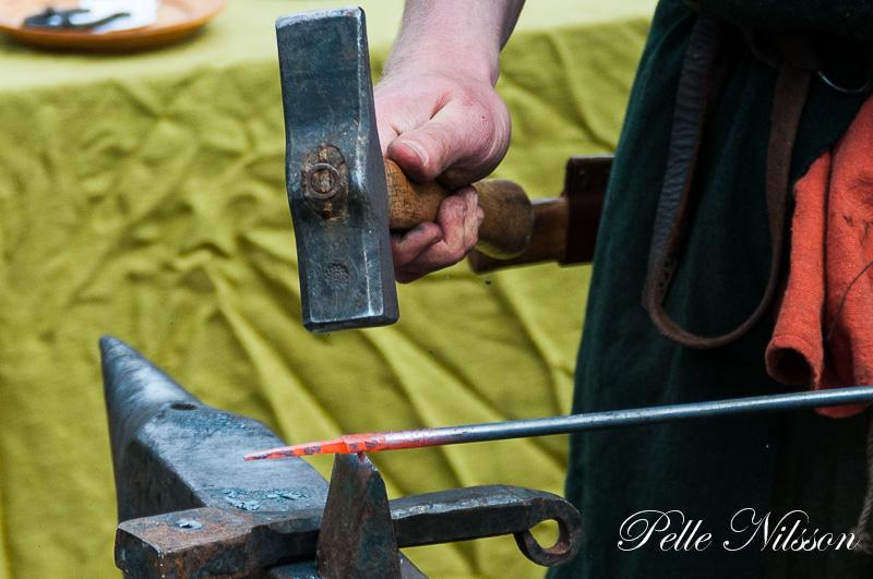 Smed på Medeltidsmarkanden Foto: Pelle Nilsson Ljungandalen.info