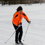 Micko i full fart i stakåknings tävlingen