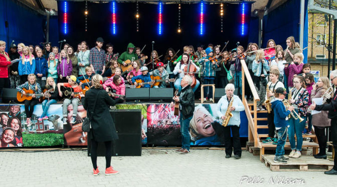 Musikskolan på Kulturnatten 2016 Foto: Pelle Nilsson / Ljungandalen.info