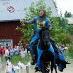Riddare Bysmed på Kälens medeltidsmarknad Foto: Pelle Nilsson / Ljungandalen.info
