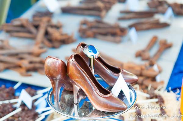 Choklad hantverk på Kälens medeltidsmarknad Foto: Pelle Nilsson / Ljungandalen.info