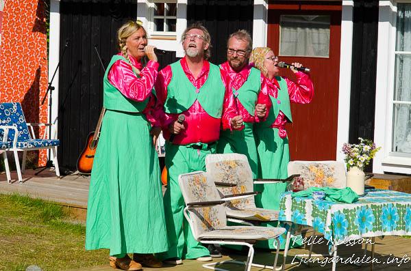 Fred Gottes Kvartett i Träffs & Triffs uppsättning av Tjuvnyp & Vådaskott
