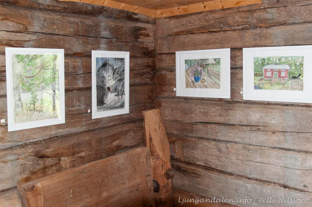 Carina Borg Konstnär ställer ut tavlor i Tullkvarnen Haverö Strömmar
