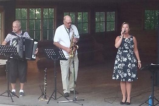 Gertruds trio på Huberget
