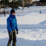 En besökare åker skrisko på rundbanan Foto: Pelle Nilsson / Ljungandalen.info