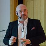 Christian Söderberg från Åkroken Business Incubator var på plats och informerande om sin verksamhet Foto: Pelle Nilsson