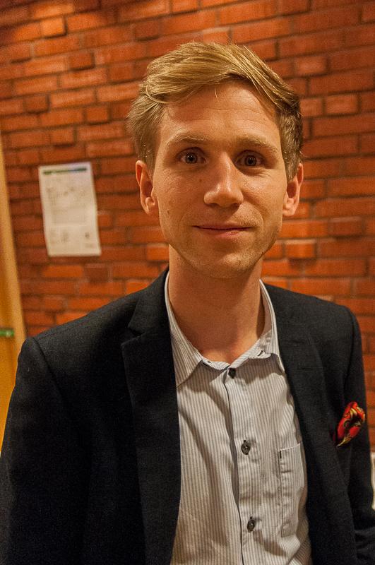Tommy Eriksson Näringslivschef på Ånge kommun arrangör för kvällen Foto Pelle Nilsson
