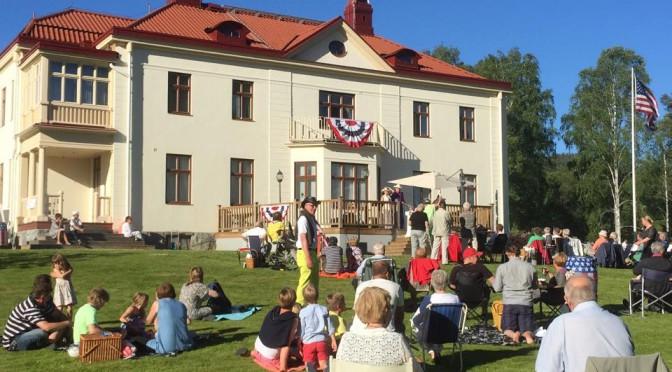 Många passade på att fira USA:s nationaldag i ljungaverk