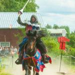 Riddare Hans af Viken på Kälens medeltidsmarknad Foto: Pelle Nilsson / Ljungandalen.info