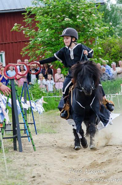 Riddare guldpil på Kälens medeltidsmarknad Foto: Pelle Nilsson / Ljungandalen.info