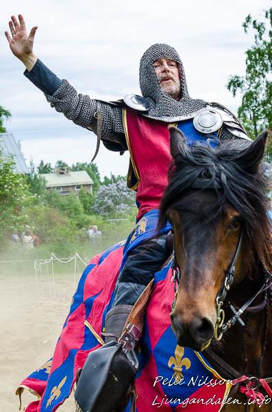 Hertig Hans af Viken Vinnare av tornerspelet på Kälens medeltidsmarknad Foto: Pelle Nilsson / Ljungandalen.info