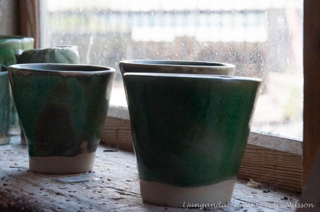 Carina Borg Konstnär ställer ut keramik i Tullkvarnen Haverö Strömmar